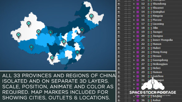 Videohive China Map Kit 17854136