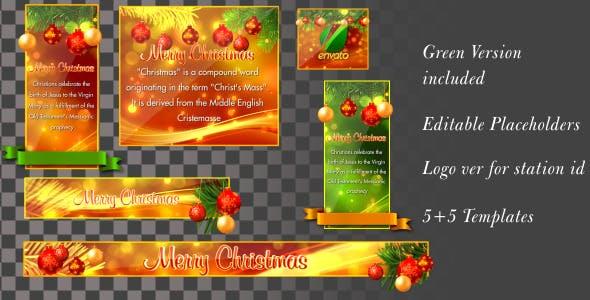 Videohive Christmas Banners-Lowerthirds V1 6151045