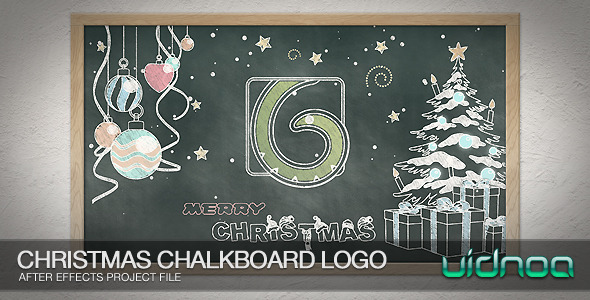 Videohive Christmas Chalkboard Logo 9800278
