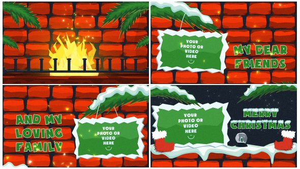 Videohive Christmas Fire 13605610