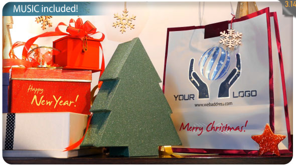 Videohive Christmas Gifts Logo - Storefront Digital Signage 20807250
