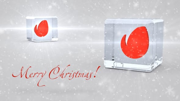 Videohive Christmas Glassy Dices 13556332