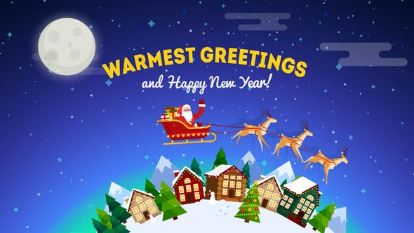 Videohive Christmas Greeting Card Opener 19010810