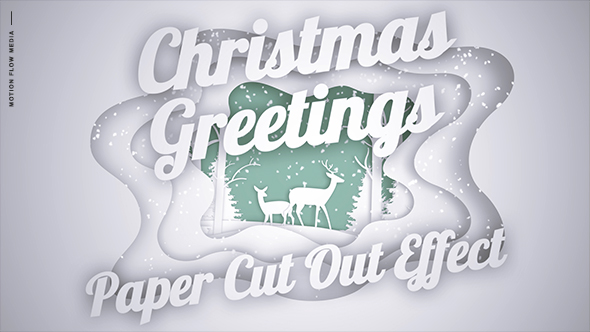 Videohive Christmas Greetings – Paper Cut Out 20948014