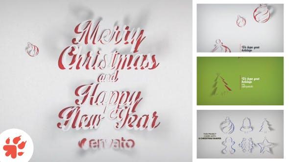 Videohive Christmas Greetings Paper 13698882