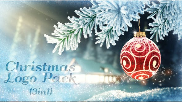 Videohive Christmas Logo Pack 3 in 1 18646376
