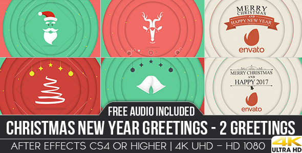 Videohive Christmas New Year Greetings 18768761
