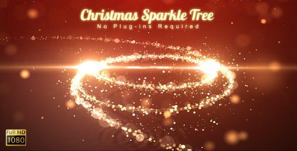 Videohive Christmas Sparkle Tree 6314977