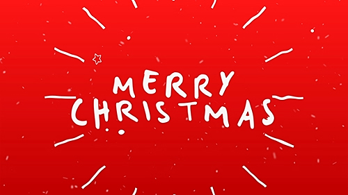 Videohive Christmas Typography Card 21012926
