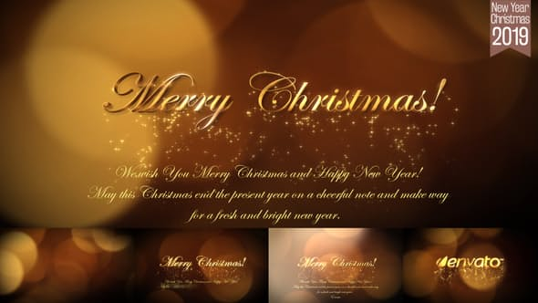 Videohive Christmas and New Year Greetings 2019 6139334