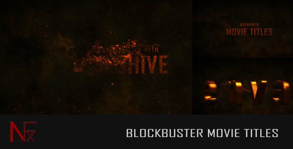 Videohive Cinematic Blockbuster Movie Titles 5564099
