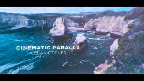 Videohive Cinematic Clean Parallax Opener - Slideshow 19353431