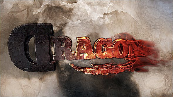 Videohive Cinematic Fire And Stone Titles 5002438