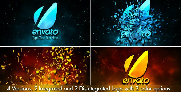 Videohive Cinematic Fire Shatter Logo 3777216