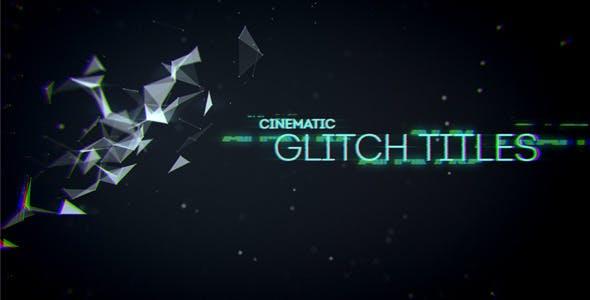 Videohive Cinematic Glitch Titles 9452710