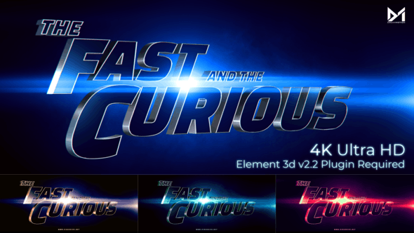 Videohive Cinematic Title Trailer Fast and the curious 25897760