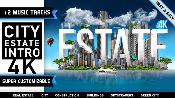 Videohive City Estate Intro Logo 4457875