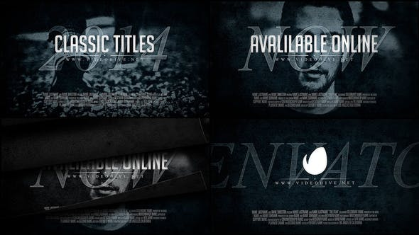 Videohive Classic Titles 8001426