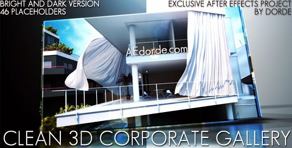 Videohive Clean 3D Corporate Gallery 2381121