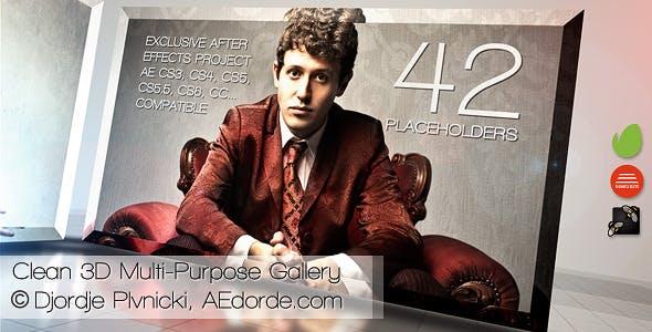 Videohive Clean 3D Multi-Purpose Gallery 5291219