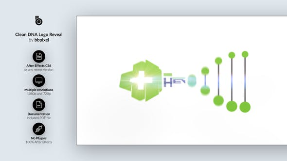Videohive Clean DNA Logo Reveal 15265184