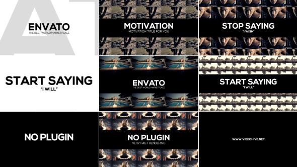 Videohive Clean Motivation Title 19656052