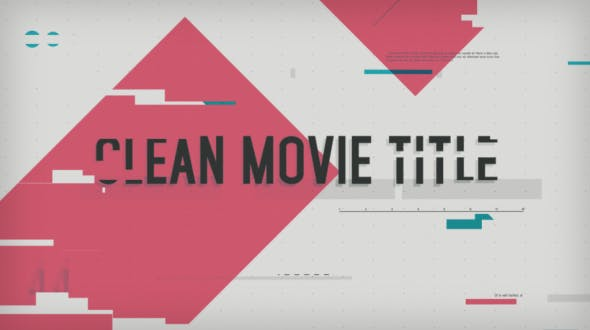 Videohive Clean Movie Title 8526699