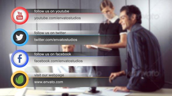 Videohive Clean Social Media Lower Third Pack (Pack of 14) 10598969