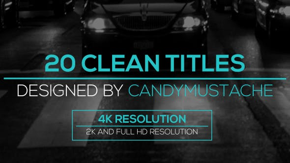 Videohive Clean Titles Pack 16215399