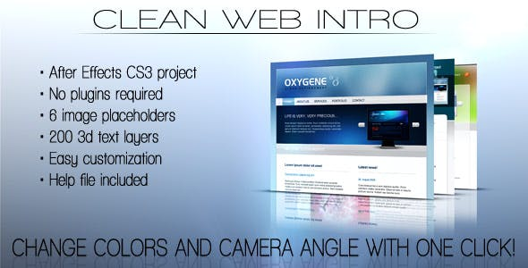 Videohive Clean Web Intro 156571
