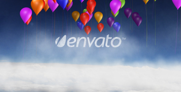 Videohive Cloud And Balloon Logo Reveal 4429813