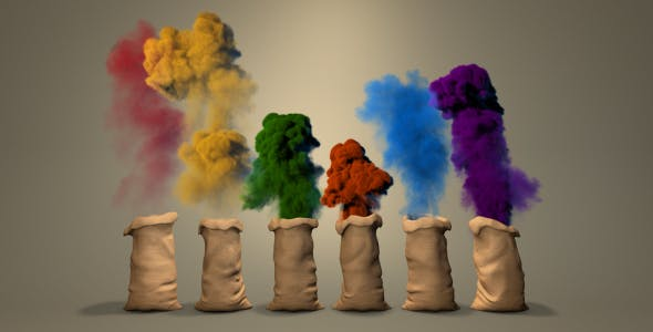 Videohive Color Dust Logo 14473515