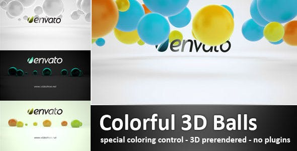 Videohive Colorful 3D Balls 3435268