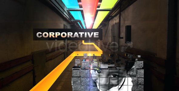 Videohive Colorful Corridor Opener