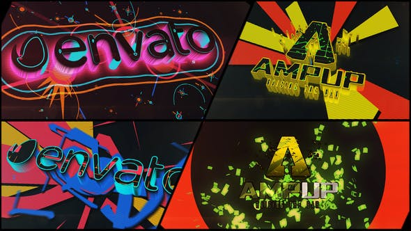 Videohive Colorful Dubstep Projection Logo 22280835