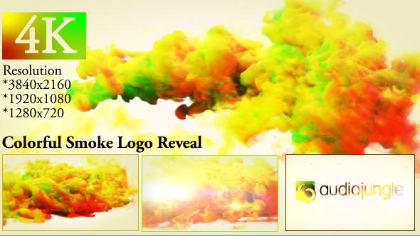 Videohive Colorful Smoke Logo Reveal 20000622