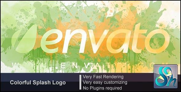 Videohive Colorful Splash Logo 3094626