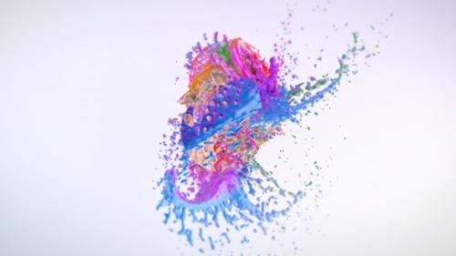 Videohive Colorful Splash Logo Reveal 13335022
