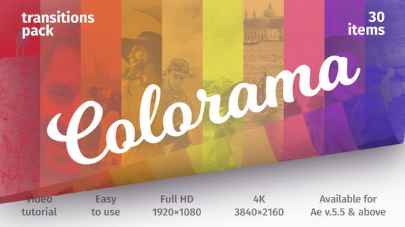 Videohive Colorful Transitions - Transitions Pack 21382230