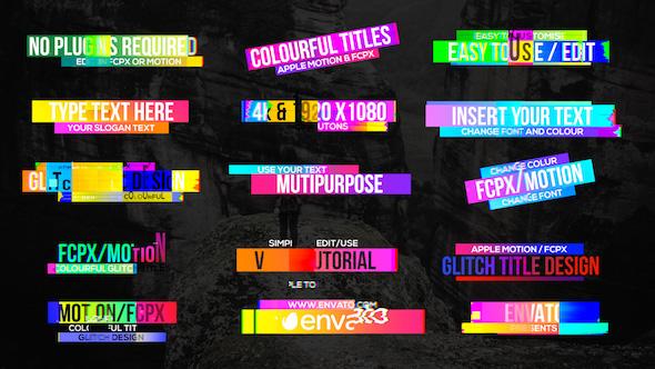 Videohive Colourful Glitch Titles 2 19828998