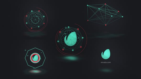 Videohive Connected Shapes Logo Reveal 19301489