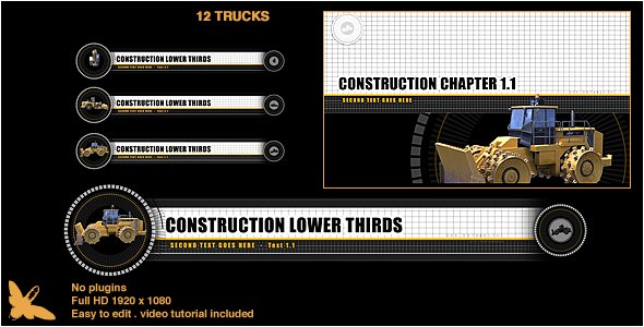 Videohive Construction Lower Thirds Chapter Titles 16057604