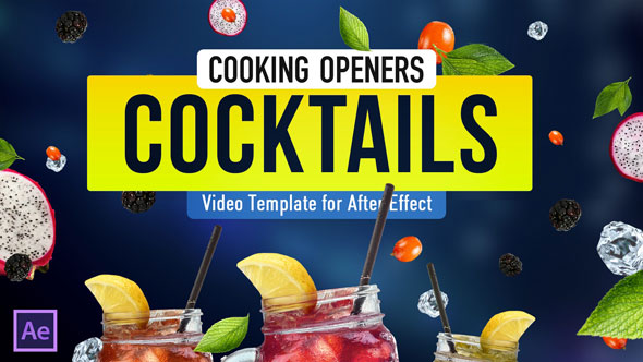 Videohive Cooking Design Pack - Cocktails 19858692