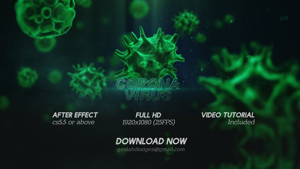 Videohive Corona Virus Titles Virus Opener Medical Template Healthcare Presentation 25700400
