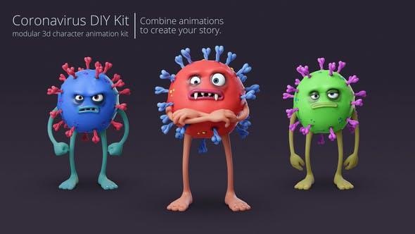Videohive Coronavirus Character Animation DIY Kit 26534212