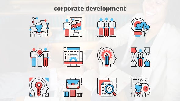 Videohive Corporate Development - Thin Line Icons 23454835