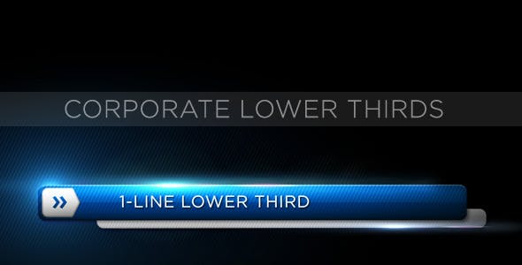 Videohive Corporate Lower Third 153152