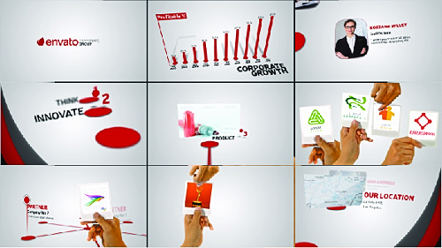Videohive Corporate Profile With Hand Gestures 19581684