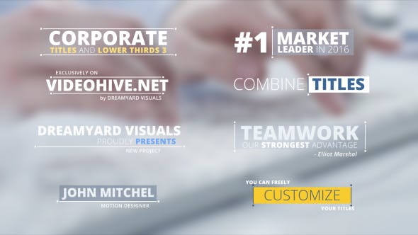 Videohive Corporate Titles and Lower Thirds 3 14866943
