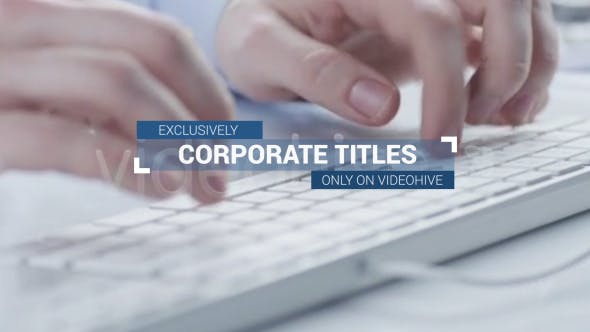 Videohive Corporate Titles and Lower Thirds Plus 16132729